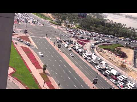 Traffic in dubai ..trip and roads