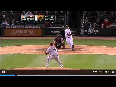 Alexei Ramirez Grand Slam on 3-0 Pitch 5/9/2014