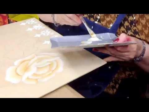 Como pintar flores en Oleo - Silvia Mongelos - Maestria en Pintura Decorativa