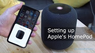 Setting up Apple's HomePod