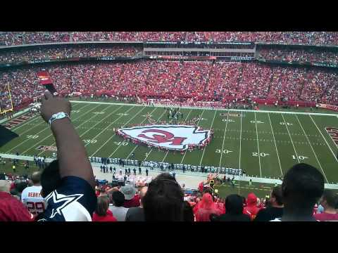 2013 Kansas City Chiefs Home opener Anthem and Flyover