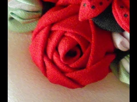 Como hacer una rosa de tela youtube - Como hacer cuadros de tela ...