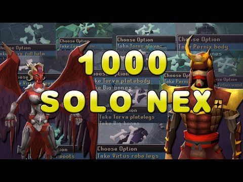 1000+ Solo Nex Kills - 200 hours of soloing