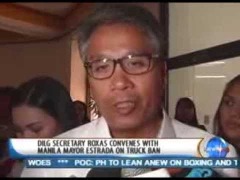 NewsLife: DILG Sec. Roxas convenes with Manila Mayor Estrada on truck ban || Feb. 26, '14