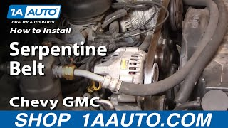 How To Install Replace Serpentine Belt Chevy GMC S10