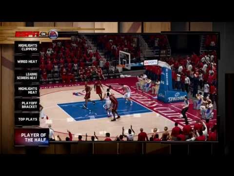 NBA Finals 2014 - Miami Heat vs Los Angeles Clippers - 2nd Qrt - NBA Live 14 PS4 - HD