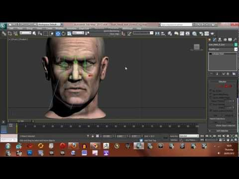 Using sliders/wire parameters in 3ds Max to control morph targets on a character part 1
