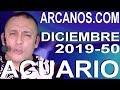 Video Horóscopo Semanal ACUARIO  del 8 al 14 Diciembre 2019 (Semana 2019-50) (Lectura del Tarot)
