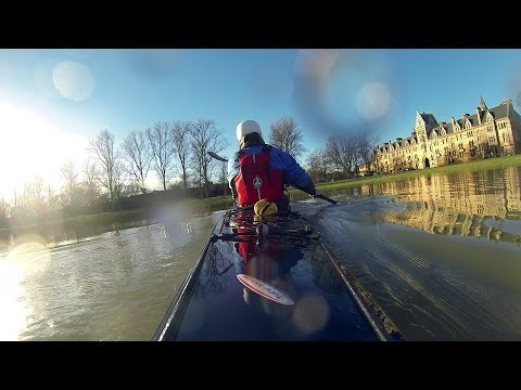 Oxford Floods 2014 - Kayaks - River Thames - Christchurch College Meadow