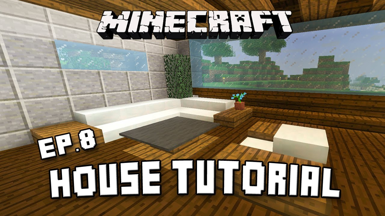 How to make modern living room furniture in minecraft for Modern house 8 part 6