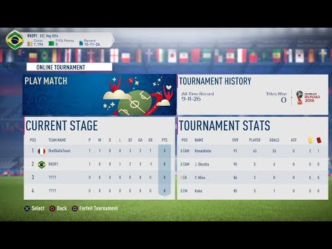 FIFA 18- World Cup Ultimate Team: Online Tournament + Reward Pack Opening #71
