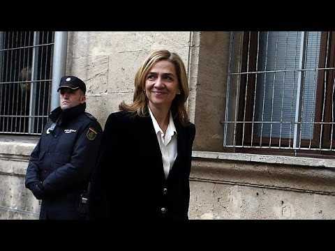 Spain's Princess Cristina arrives in court for questioning over corruption case