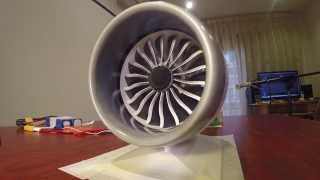 3D Printed Engine Models a B787 Jet Engine
