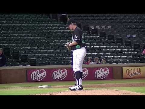 Drew Davis 2015    Warming on the mound @ Texas Rangers Ballpark Feb 17, 2014
