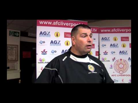 AFC Liverpool v Glossop North End 5th April 2014 Post Match Interview