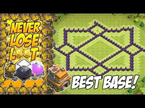 TH7 Hybrid Base Without Barbarian King | CoC