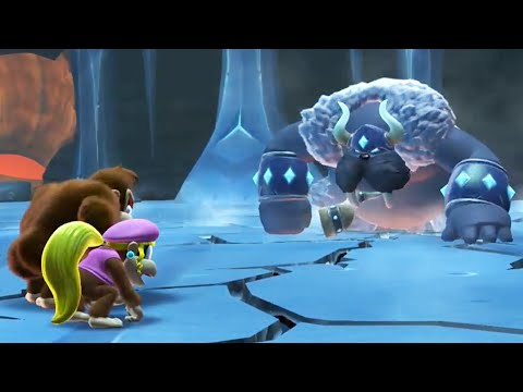 Donkey Kong Country Tropical Freeze - All Boss Fights (No Damage) Final Boss and Ending