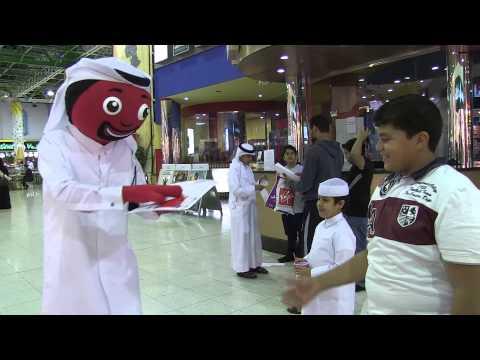 Ooredoo's AlRabaa spreads joy in Landmark Mall