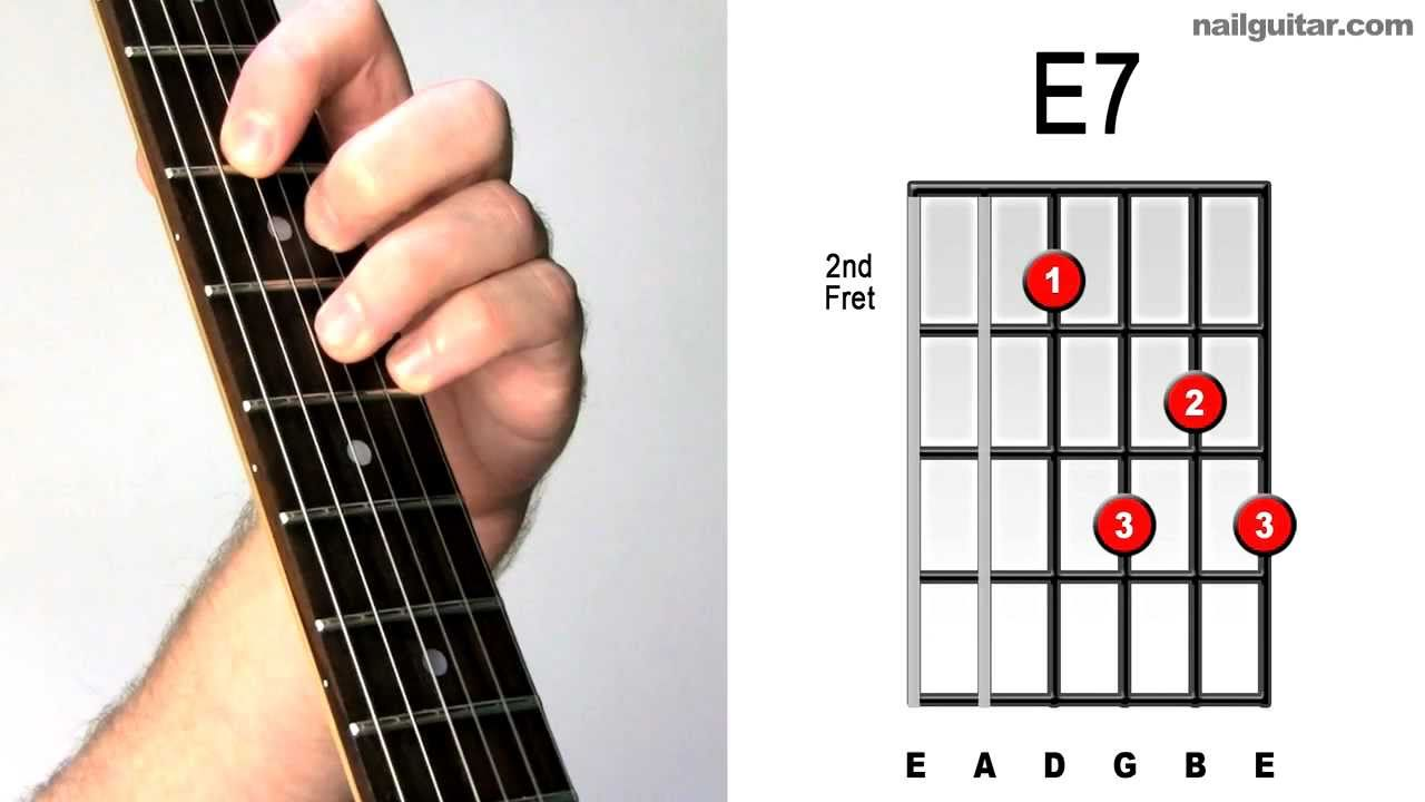 E7 - Quick u0026 Easy Tutorial u266bu266c Acoustic u0026 Electric Guitar Bar Chords Lesson - YouTube