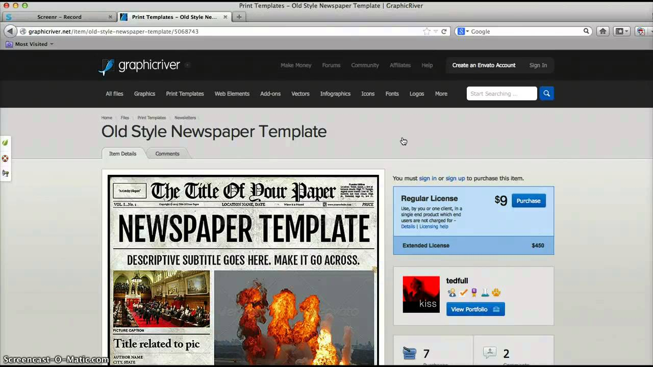 Create A Newspaper Template from i1.ytimg.com