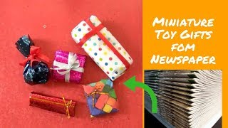 DIY miniatute toy gifts for decoration pieces made from newspaper
