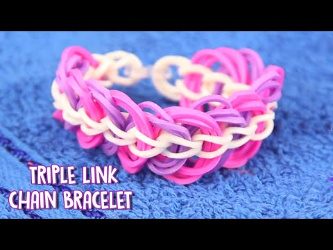 how to make triple loom bands with fingers