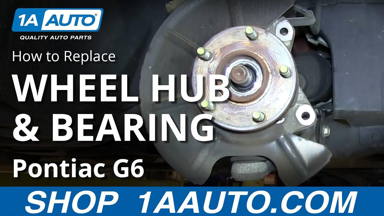 install replace front wheel hub bearing pontiac