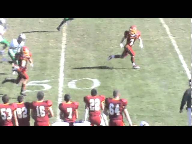 11-2-13 - 80 yard connection from Kyle Rosenbrock to Jake Brown (Brush 20, The Academy 0)
