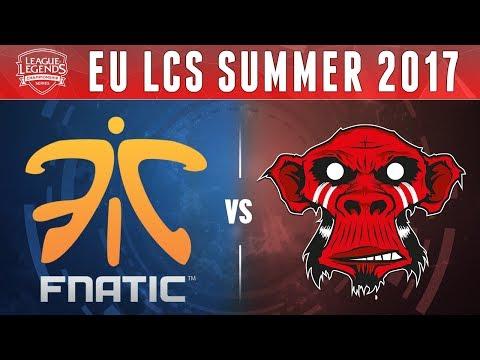 FNC vs MM, Game 2 - EU LCS 2017 Summer  - Fnatic vs Mysterious Monkeys G2