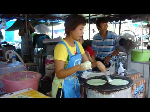 Crêpes vertes thailandaises