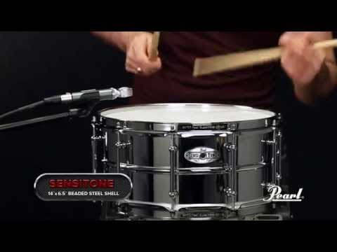 Pearl Sensitone Elite Steel 14x6.5 Snare Drum