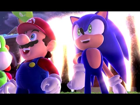 Mario & Sonic at the Sochi 2014 Olympic Winter Games - Legends Showdown - Area 1
