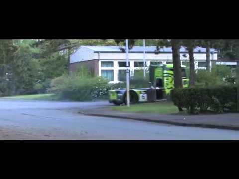 Image video Gymkhana avec un camion