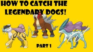 Simplest Way To Catch The Legendary Dogs!Pokemon Heart