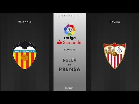 Rueda de prensa Valencia vs Sevilla