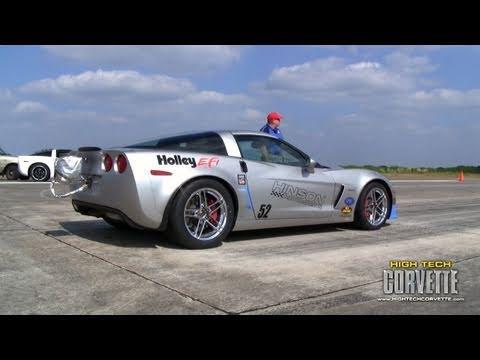 214mph Turbo Corvette @ the Texas Mile - October 2010