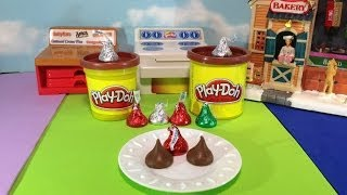 Play Doh How To Make A Chocolate Candy Hersey Kiss From