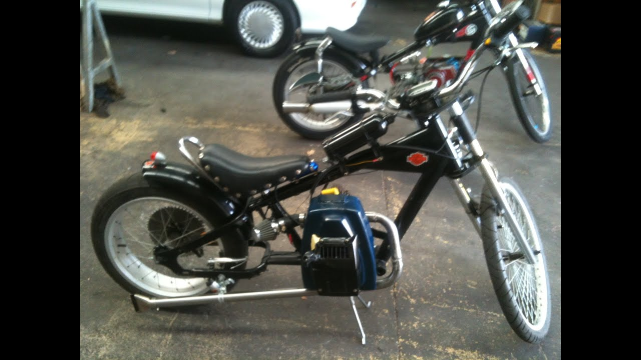 schwinn stingray chopper bike rat rod with victa lawn. Black Bedroom Furniture Sets. Home Design Ideas