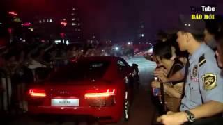 Hồ Ngọc Hà và Noo Phước Thịnh đi siêu xe lên sân khấu làm loạn