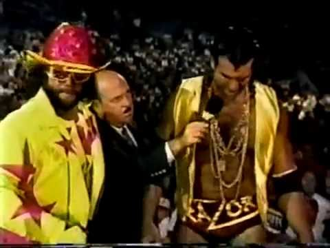 Mean Gene interviews Macho Man/Razor Ramon interrupts (09-14-1992)