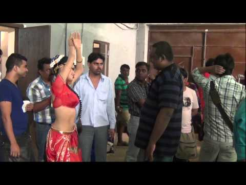 SHERLYN CHOPRA ON SETS OF KAMASUTRA 3D WITH RUPESH PAUL