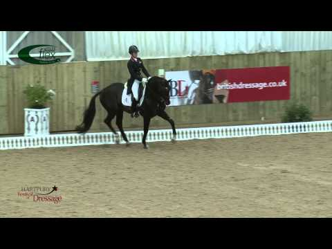 Charlotte Dujardin riding Carl Hester's Uthopia at Hartpury