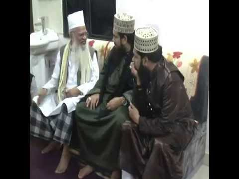 Hazrat Syed Hashmi Ashrafi Jilani with his son in law Allama Syed Salman Ashrafi Jilani