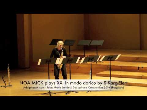 NOA MICK plays XX In modo dorico by S Karg Elert