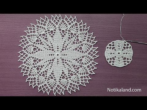 Crochet How to crochet doily Part 1  Crochet doily rug tutorial