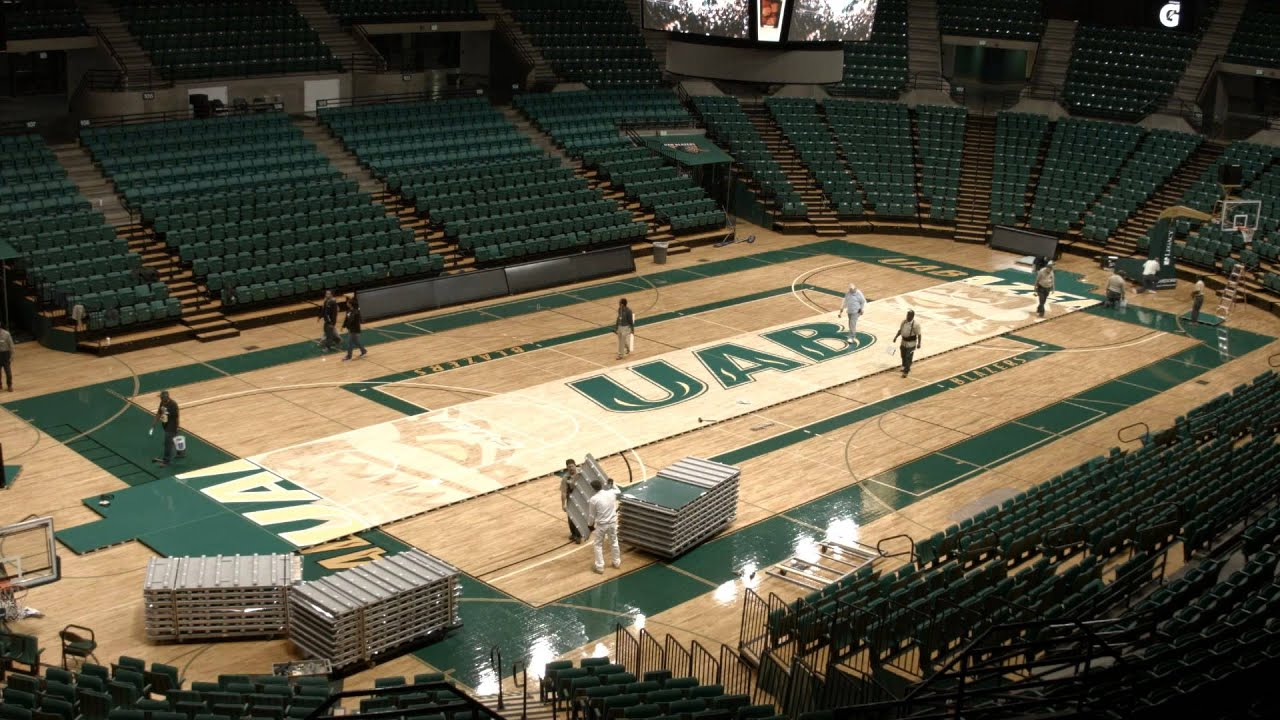 Bartow Arena Basketball Court Reveal - YouTube