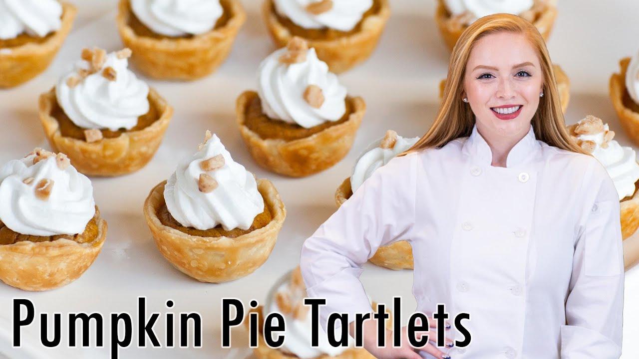 Easy Mini Pumpkin Pie Tarts with Meringue Frosting - YouTube