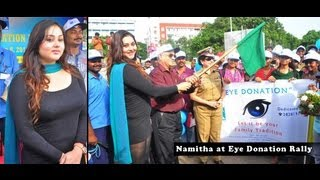 Namitha at Eye Donation Rally,Namitha launches Dr Batra Photography Exhibition