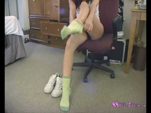 Fetish sock Youtube girl