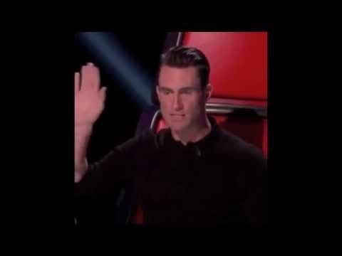 Adam Levine imitating Shakira